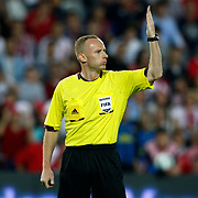 Referee's Marcin Borski during their FIFA World Cup 2014 qualifying soccer match Turkey betwen Estonia at Sukru Saracoglu stadium in Istanbul September 11, 2012. Photo by TURKPIX