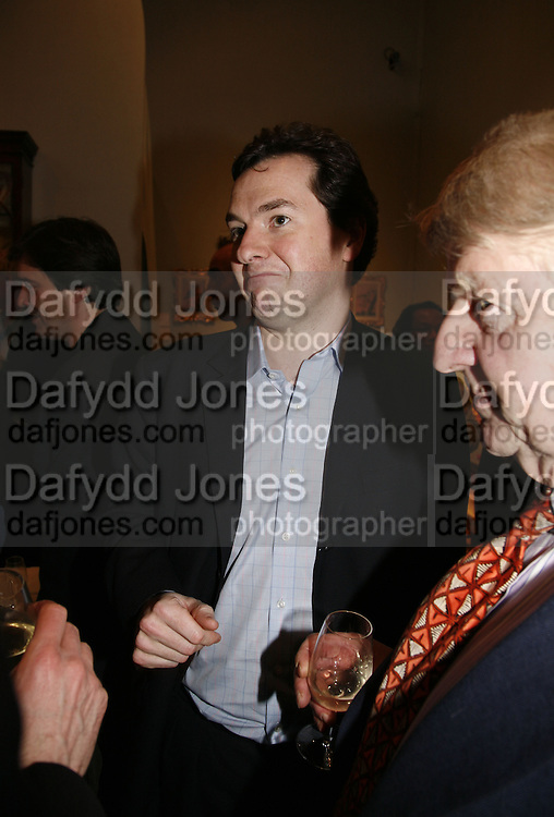 George osborne, Party to celebrate the publication of Too Close To The Sun: The Life and Times of Denys Finch Hatton by Sara Wheeler, Christies. King St. St. James. London. 9 March 2006. ONE TIME USE ONLY - DO NOT ARCHIVE  © Copyright Photograph by Dafydd Jones 66 Stockwell Park Rd. London SW9 0DA Tel 020 7733 0108 www.dafjones.com