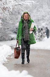 10.01.2019, Hotel Schlosspark, Mauerbach, AUT, Bundesregierung, Eintreffen der Regierungsmitglieder zur Regierungsklausur 2019, im Bild Außenministerin Karin Kneissl (FPÖ) // Austrian Minister for Europe, Integration and Foreign Affairs Karin Kneissl during convention of the Austrian government at Mauerbach in Lower Austria, Austria on 2019/01/10 EXPA Pictures © 2019, PhotoCredit: EXPA/ Michael Gruber