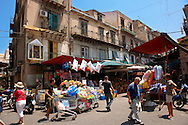 Palermo food market, Sicily .<br /> <br /> Visit our SICILY HISTORIC PLACES PHOTO COLLECTIONS for more   photos  to download or buy as prints https://funkystock.photoshelter.com/gallery-collection/2b-Pictures-Images-of-Sicily-Photos-of-Sicilian-Historic-Landmark-Sites/C0000qAkj8TXCzro