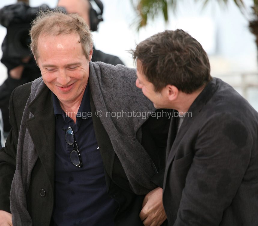Director Arnaud Desplechin and actor Mathieu Amalric at the Jimmy P. Psychotherapy of a Plains Indian film photocall at the Cannes Film Festival 18th May 2013