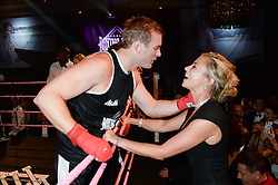 British fine jewellery brand Boodles welcomed guests for the 2013 Boodles Boxing Ball in aid of Starlight Children's Foundation held at the Grosvenor House Hotel, Park Lane, London on 21st September 2013.<br /> Picture Shows:-HOLLY BRANSON kisses her husband FRED ANDREWES.<br /> <br /> Press release - https://www.dropbox.com/s/a3pygc5img14bxk/BBB_2013_press_release.pdf<br /> <br /> For Quotes  on the event call James Amos on 07747 615 003 or email jamesamos@boodles.com. For all other press enquiries please contact luciaroberts@boodles.com (0788 038 3003)