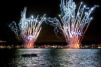 """Japanese fireworks have long been known as the world's most elaborate.  Hanabi,  literally """"flower fire"""" it is a highlight of mid-summer in Japan, as each year the displays become more elaborate and colourful.  7/30/2008"""
