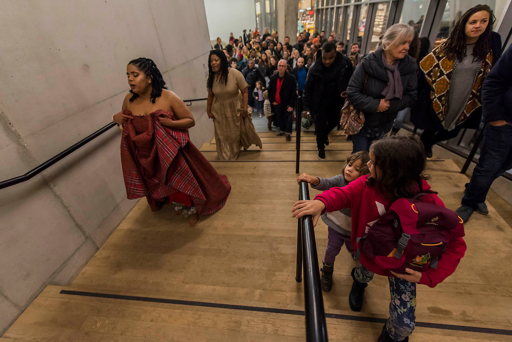 Aluminum - New York-based choreographer Rashida Bumbray collaborates with Simone Leigh on an immersive danceperformance. The performance begins in the Tanks at and proceeds through the Switch House, pausing on Level 4 around and concluding in Tate Exchange.