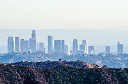 Downtown Los Angeles Skyline in the Smog
