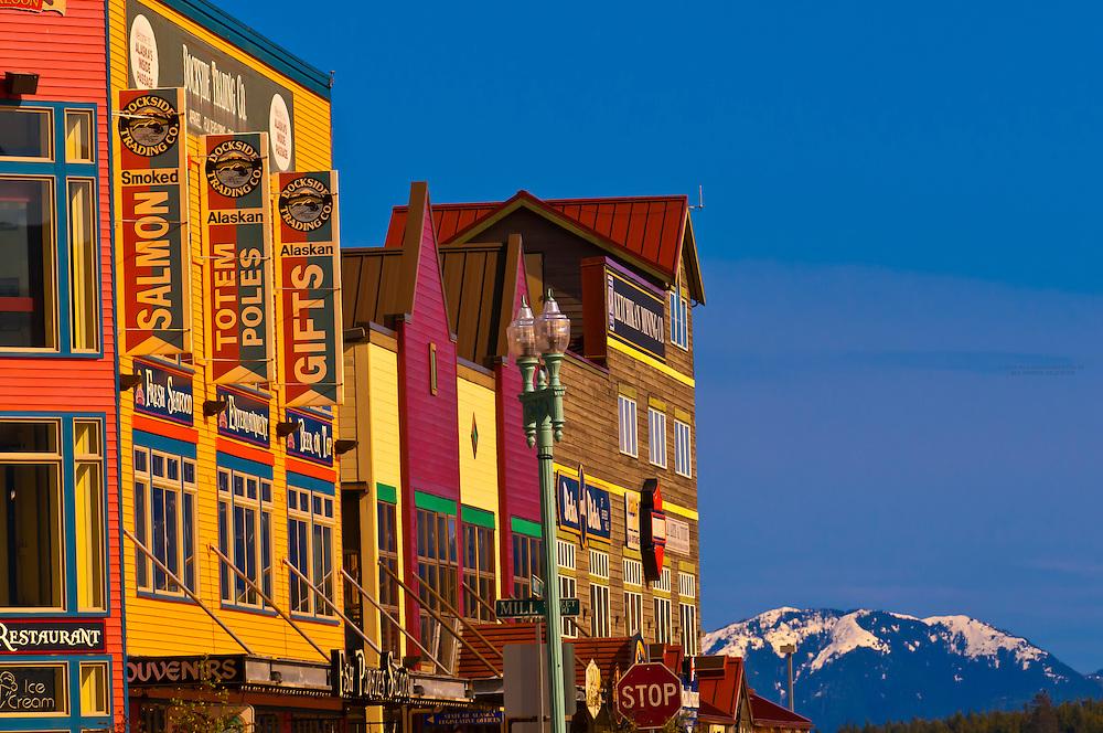 Street scene, Ketchikan, Southeast Alaska USA