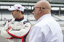 May 18, 2018 - Indianapolis, Indiana, United States of America - ORIOL SERVIA (64) of Spain talks with Bobby Rahal inbetween practice runs during ''Fast Friday'' for the Indianapolis 500 at the Indianapolis Motor Speedway in Indianapolis, Indiana. (Credit Image: © Chris Owens Asp Inc/ASP via ZUMA Wire)
