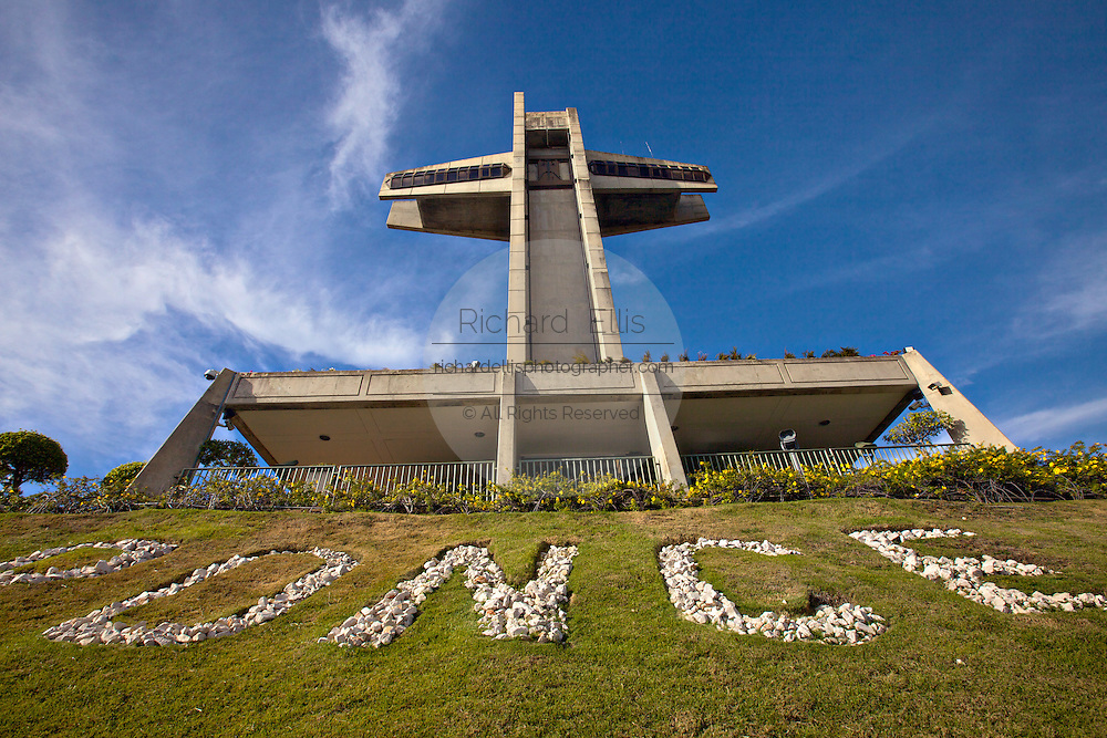 100-foot tall cross-shaped observation tower called El Vigia Cross on top of Vigia Hill February 21, 2009 in Ponce, Puerto Rico.