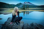 USA, Oregon, Deschutes County,Bend, Sparks Lake MR