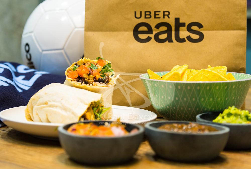 Promotional shots for Uber Eats Champions League. London, March 27 2018.