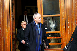 © Licensed to London News Pictures. 25/02/15 Ex Bolton chairman Phil Gartside at the start of the court case in Newcastle Upon Tyne brought by Football agent Tony McGill against Bolton Chairman Phil Gartside and Ex Liverpool star Sammy Lee amongst others in an alleged £1million fraud case. Photo credit : John Millard/LNP