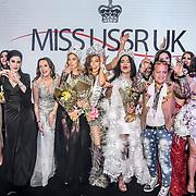 Julia Titova, Julia Sinitsina (2nd) Anhelina Chabanian (1st) and Laura Mukhtar (3rd)Ciro Orsini winner of Miss USSR UK 2019 2019 at Hilton Hotel Park Lane on 27 April 2019, London, UK.