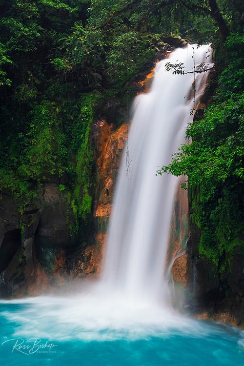 Rio Celeste Waterfall, Tenorio Volcano National Park, Guanacaste Province, Costa Rica