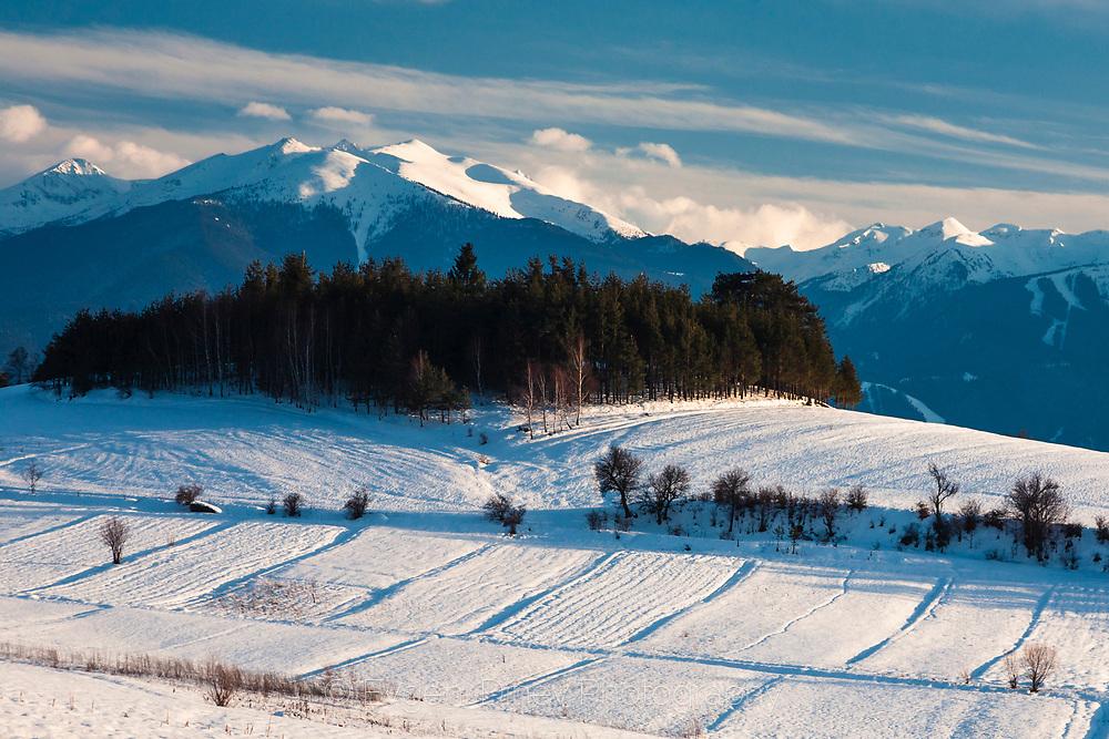 View of Pirin mountain from Rila mountain