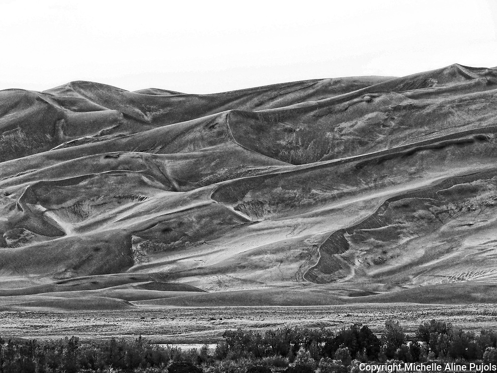 Surreal look at the dunes of Great Sand Dunes National Park Colorado