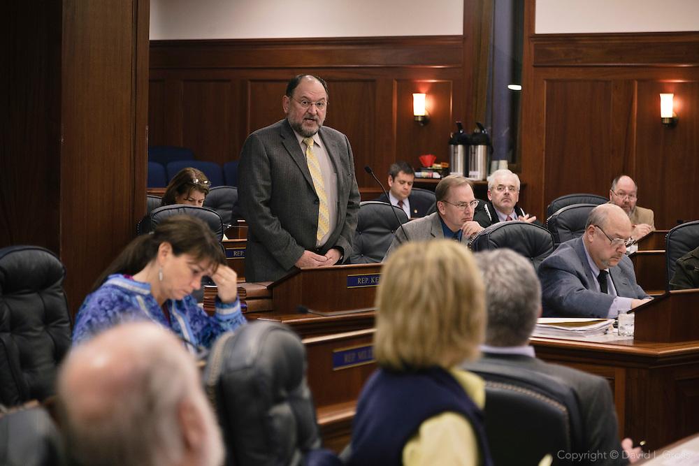 Rep. Wes Keller speaks to the Alaska State House of Representatives.