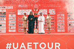 March 1, 2019 - Emirati Arabi Uniti - Foto LaPresse - Massimo Paolone.1 Marzo 2019 Emirati Arabi Uniti.Sport Ciclismo.UAE Tour 2019 - Tappa 6 - da Ajman a Jebel Jais - 180 km.Nella foto: Primoz Roglic (Team Jumbo - Visma) durante la premiazione..Photo LaPresse - Massimo Paolone.March 1, 2019 United Arab Emirates.Sport Cycling.UAE Tour 2019 - Stage 6 - Ajman to Jebel Jais - 111,8 miles.In the pic: Primoz Roglic (Team Jumbo - Visma) during the award ceremony (Credit Image: © Massimo Paolone/Lapresse via ZUMA Press)