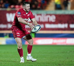 Scarlets' Rob Evans<br /> <br /> Photographer Simon King/Replay Images<br /> <br /> European Rugby Champions Cup Round 6 - Scarlets v Toulon - Saturday 20th January 2018 - Parc Y Scarlets - Llanelli<br /> <br /> World Copyright © Replay Images . All rights reserved. info@replayimages.co.uk - http://replayimages.co.uk