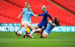 Jill Scott of Manchester City Women tackles Ji So-Yun of Chelsea Women - Mandatory by-line: Nizaam Jones/JMP - 29/08/2020 - FOOTBALL - Wembley Stadium - London, England - Chelsea v Manchester City - FA Women's Community Shield