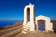 Bell tower of Agios Symios, kea, Greek Cyclades Island .<br /> <br /> Visit our GREEK HISTORIC PLACES PHOTO COLLECTIONS for more photos to download or buy as wall art prints https://funkystock.photoshelter.com/gallery-collection/Pictures-Images-of-Greece-Photos-of-Greek-Historic-Landmark-Sites/C0000w6e8OkknEb8