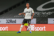 Andre Wisdom of Derby County (2) during the EFL Sky Bet Championship match between Derby County and Cardiff City at the Pride Park, Derby, England on 28 October 2020.