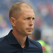 HARRISON, NEW JERSEY- OCTOBER 16:  Columbus Crew Head Coach Gregg Berhalter on the sideline during the New York Red Bulls Vs Columbus Crew SC MLS regular season match at Red Bull Arena, on October 16, 2016 in Harrison, New Jersey. (Photo by Tim Clayton/Corbis via Getty Images)