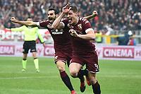 esultanza gol Andrea Belotti Torino Goal celebration <br /> Torino 11-12-2016 Stadio Olimpico Grande Torino Football Calcio Serie A 2016/2017 Torino - Juventus foto Image Sport/Insidefoto
