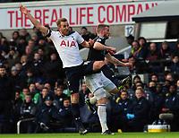 Football - 2016 / 2017 Premier League - Tottenham Hotspur vs. West Bromwich Albion<br /> <br /> Harry Kane of Tottenham and Chris Brunt of WBA at White Hart Lane.<br /> <br /> COLORSPORT/ANDREW COWIE
