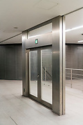 emergency exit doors going nowhere at Shibuya station Tokyo Japan