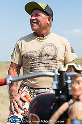 Freddie Bollwage at the 78th annual Sturgis Motorcycle Rally. Sturgis, SD. USA. Thursday August 9, 2018. Photography ©2018 Michael Lichter.