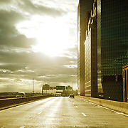 FDR Highway during the sunset