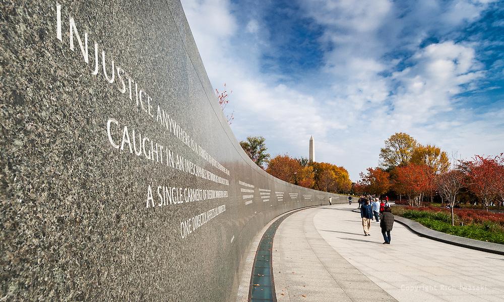 Detail view of Martin Luther King Memorial, Washington, DC