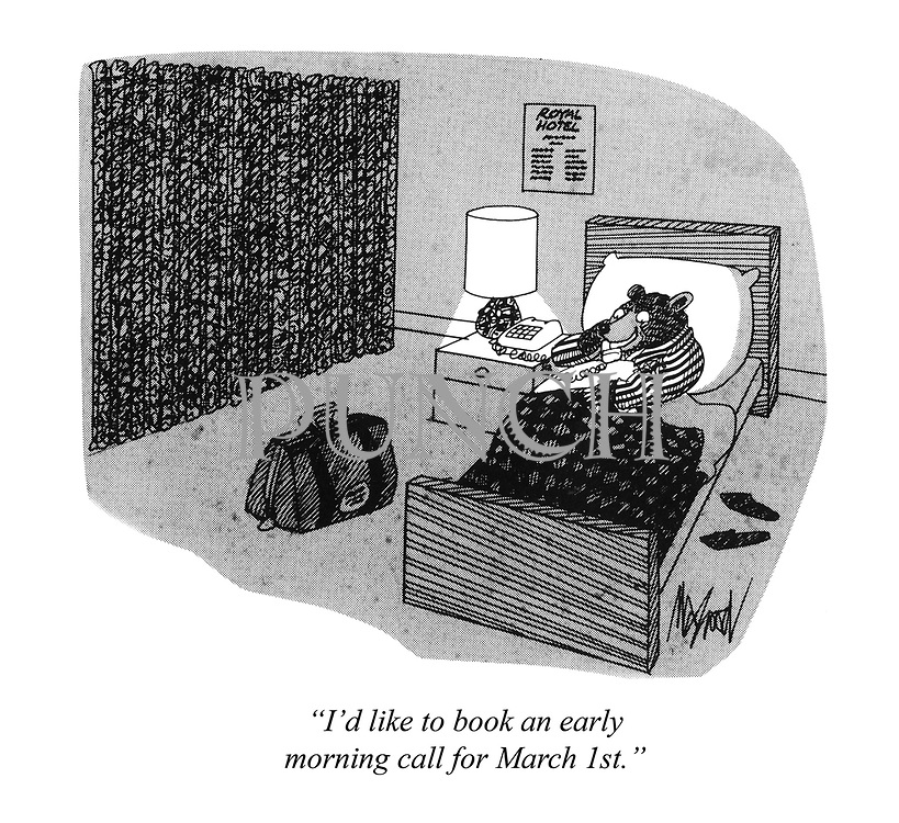 ?I'd like to book an early morning call for March 1st.?