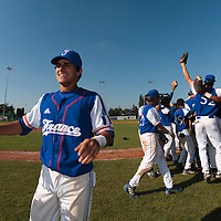 20 August 2010: Maxime Lefevre of Team France celebrates France 6-5 win over Italy, at the 2010 European Championship, under 21, in Brno, Czech Republic.