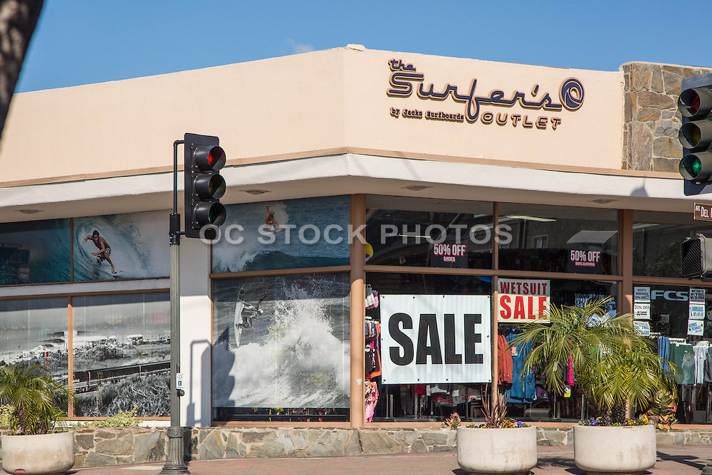 The Surfer's Outlet and Jacks Surfboards on Del Mar in Downtown San Clemente