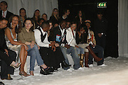 Randy, Cherise, Nadia and  J Rock. DENIS SIMACHEV SHOWCASES AUTUMN/WINTER 06 MENSWEAR & WOMENSWEAR COLLECTIONS<br />