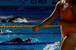 Athletes at warming up during the 13th FINA World Championships Roma 2009, on July 27, 2009, at the Stadio del Nuoto,  in Foro Italico, Rome, Italy. (Photo by Vid Ponikvar / Sportida)