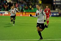 Fotball<br /> 18. ovember 2012<br /> Tippeligaen<br /> Fosshaugane<br /> Sogndal - Brann 2 - 0<br /> Ørjan Hopen (M) jubler for scoring ,  Sogndal<br /> Foto: Astrid M. Nordhaug