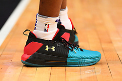 February 13, 2019 - Los Angeles, CA, U.S. - LOS ANGELES, CA - FEBRUARY 13: Phoenix Suns Forward Kelly Oubre Jr. (3) shoes before a NBA game between the Phoenix Suns and the Los Angeles Clippers on February 13, 2019 at STAPLES Center in Los Angeles, CA. (Photo by Brian Rothmuller/Icon Sportswire) (Credit Image: © Brian Rothmuller/Icon SMI via ZUMA Press)