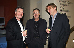 Left to right, MICHAEL PALIN, NICK MASON and MICHAEL DOVER at a the Orion Publishing Group Author Party and a private view of the 'Turner Whistler Monet' exhibition at Tate Britain, Atterbury Street, London SW1 on 23rd February 2005.<br />