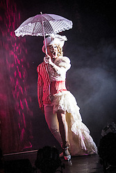 """© Licensed to London News Pictures . 26/06/2013 . Manchester , UK . The Ladyboys of Bangkok perform their show , """" Glamorous Amorous """" at the Sabai Pavilion , in Manchester , as part of their 2013 UK tour . Photo credit : Joel Goodman/LNP"""