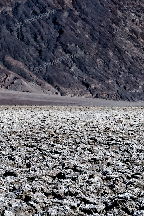 Clumps of Salt Crystals make up the Devil's Golf Course in Death Valley National Park