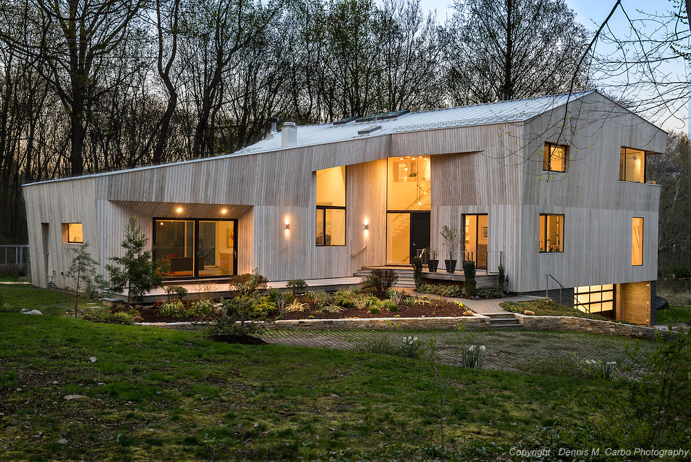 Darien Contemporary - South Elevation by SU11 Architects