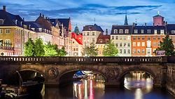 Twilight over Frederiksholm Kanal, Copenhagen, Denmark. 25/05/14. Photo by Andrew Tallon
