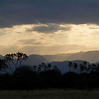Africa, Kenya, Meru. Skies over the landscape at Meru National Park.