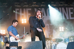 """The Vaccines' Freddie Cowan and Justin Young. Friday at Rockness 2013, the annual music festival which took place in Scotland at Clune Farm, Dores, on the banks of Loch Ness, near Inverness in the Scottish Highlands. The festival is known as """"the most beautiful festival in the world"""" ."""