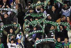 Green Dragons, fans of Olimpija,  at 39th Round of EBEL League ice hockey match between HDD Tilia Olimpija and Acroni Jesenice, on December 30, 2008, in Arena Tivoli, Ljubljana, Slovenia. Tilia Olimpija won 4:3. (Photo by Vid Ponikvar / SportIda).