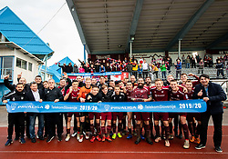 Players of Triglav celebrate after the football match between NK Triglav Kranj and NK Domzale in 35th Round of Prva liga Telekom Slovenije 2018/19, on May 22nd, 2019, in Sports park Kranj, Slovenia. Photo by Vid Ponikvar / Sportida