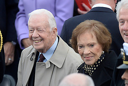 Former President Jimmy Carter and First Lady Rosalynn Carter attend the 58th Presidential Inauguration on January 20, 2017 in Washington, DC..Photo by Olivier Douliery/Abaca