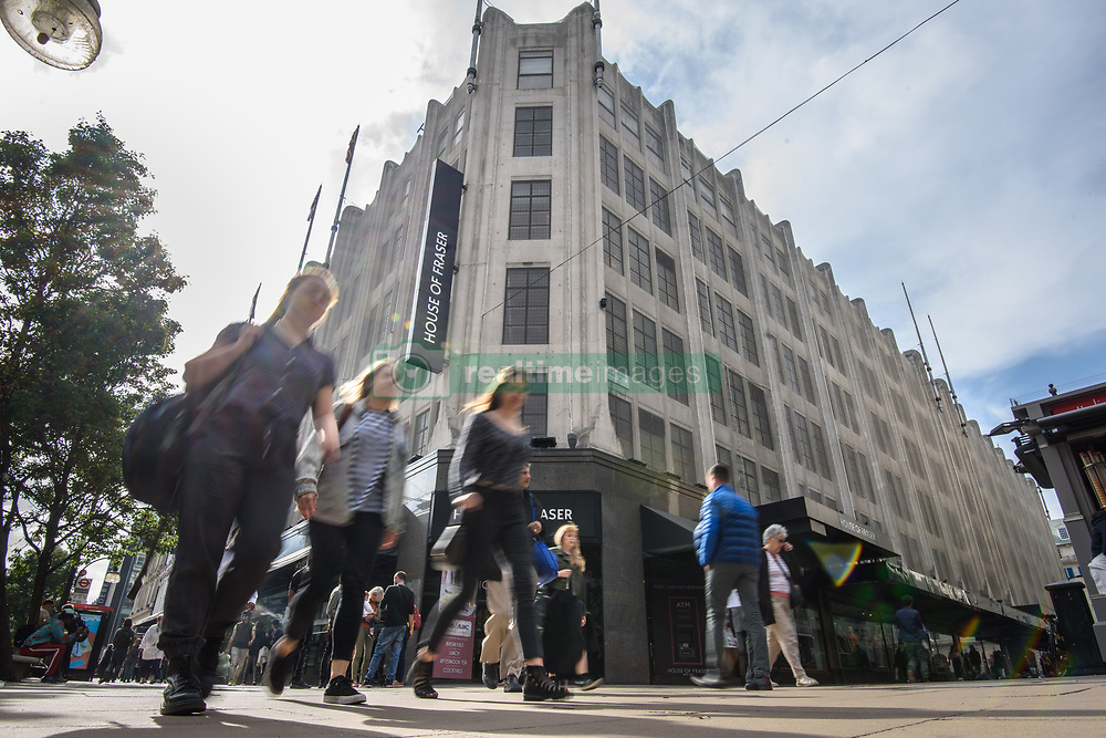General view of House of Fraser department store in London, which denied reports today that the firm was on the bink of collapse. Picture date: Tuesday June 5th, 2018. Photo credit should read: Matt Crossick/ EMPICS Entertainment.